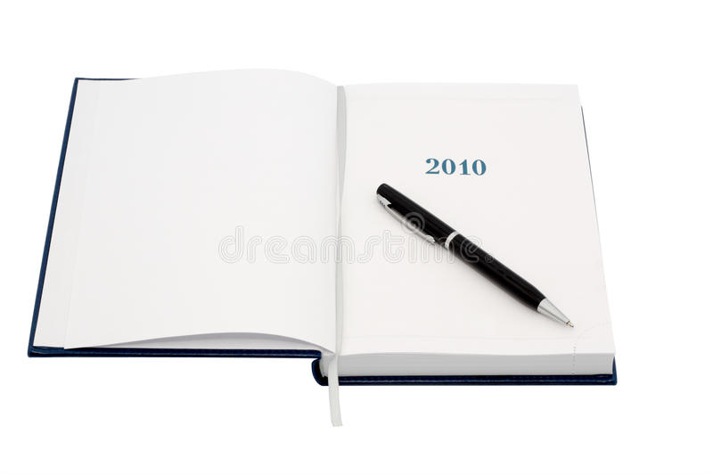 Download Organizer For 2010. With Black Pen. Stock Image - Image: 12430475