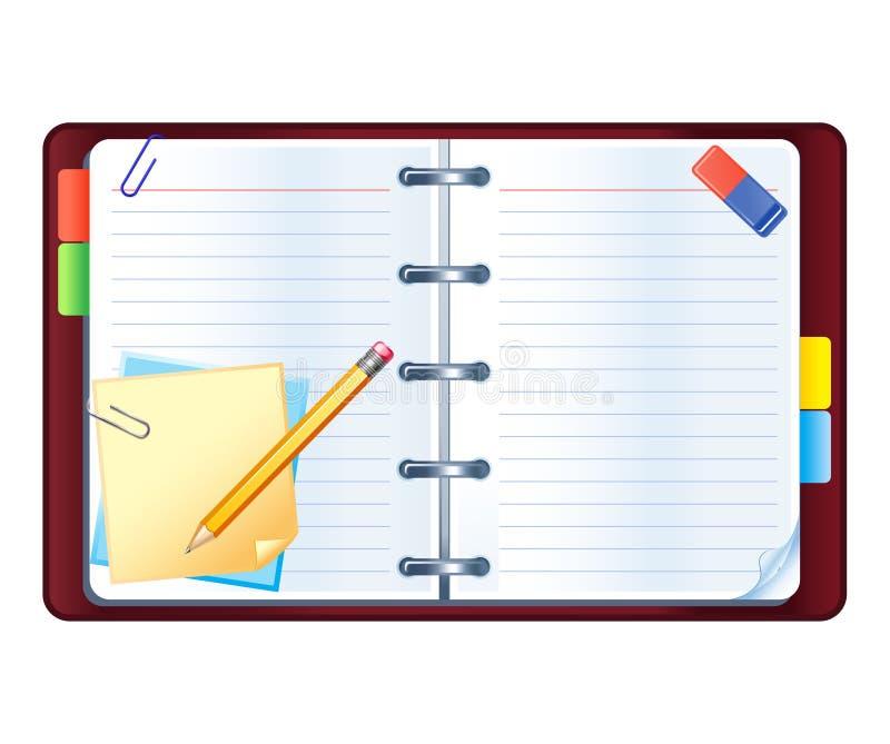 Download Organizer stock vector. Illustration of open, calendar - 8296690