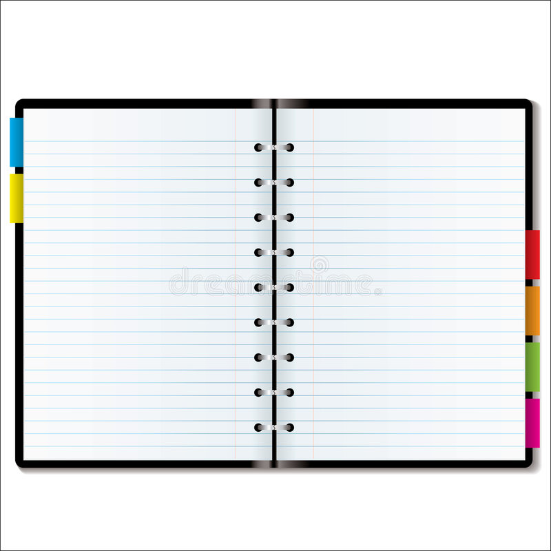 Organizer blank stock illustration