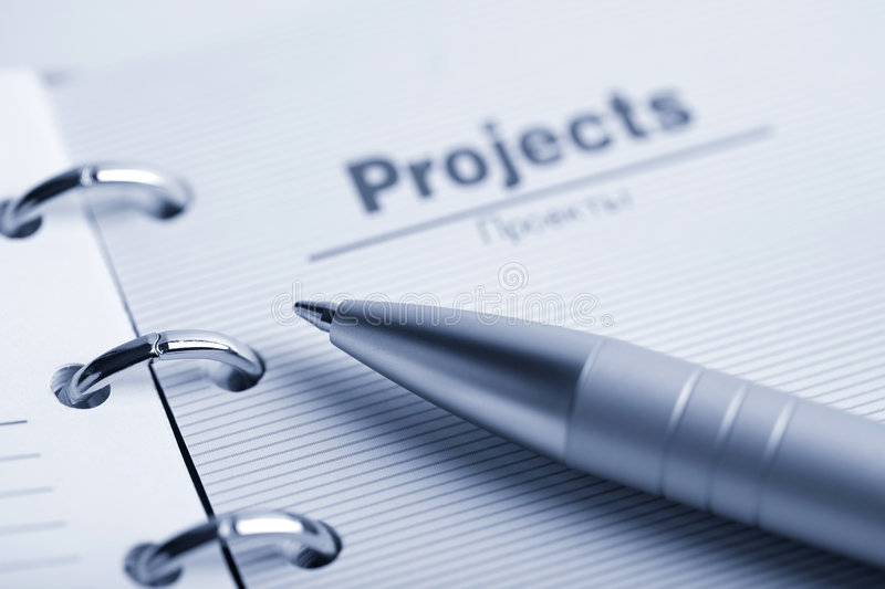 Organizer and pen. buisness background stock images