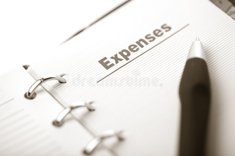 Download Organizer And Pen Isolated. Expenses Page Stock Image - Image: 7252065