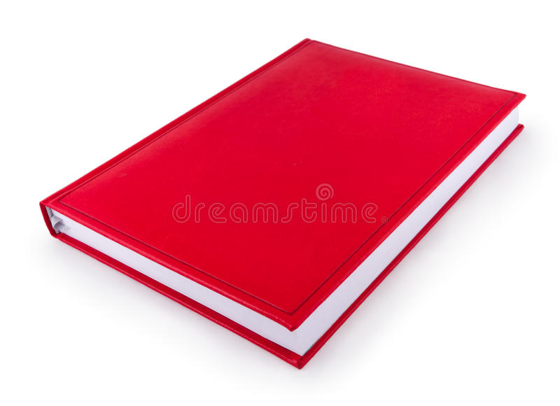 Organizer red book. Red organizer, diary book isolated on white royalty free stock images