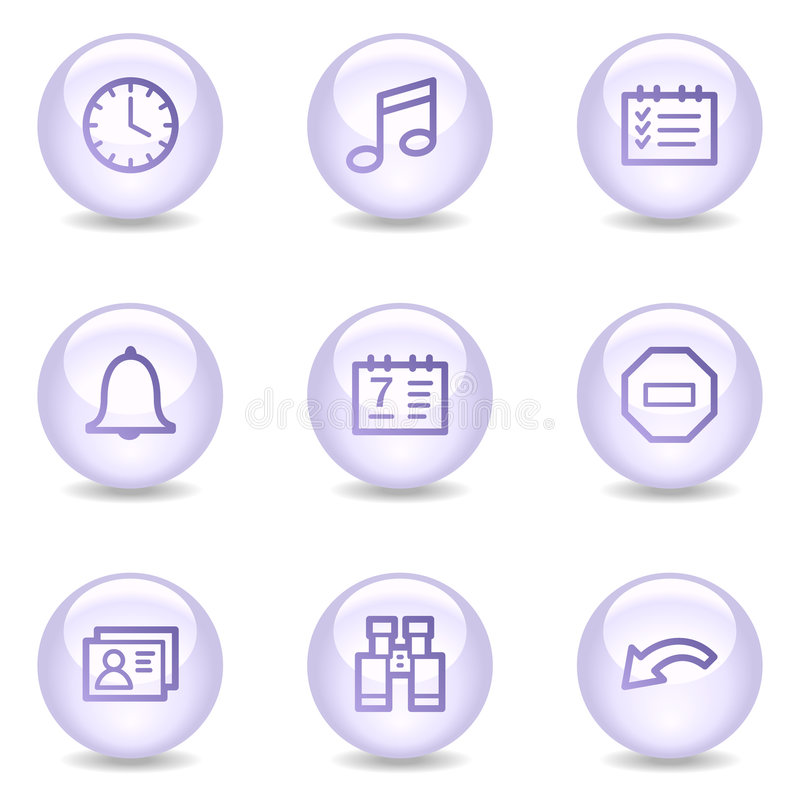 Download Organizer Web Icons, Glossy Pearl Series Stock Vector - Image: 8545691
