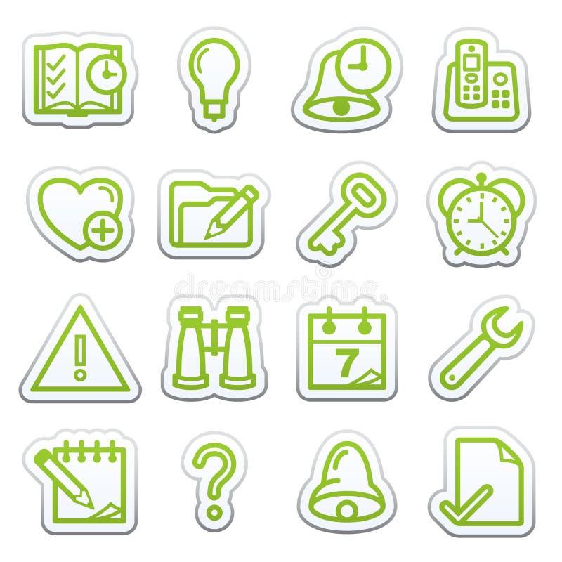 Organizer web icons. Sticker series. vector illustration