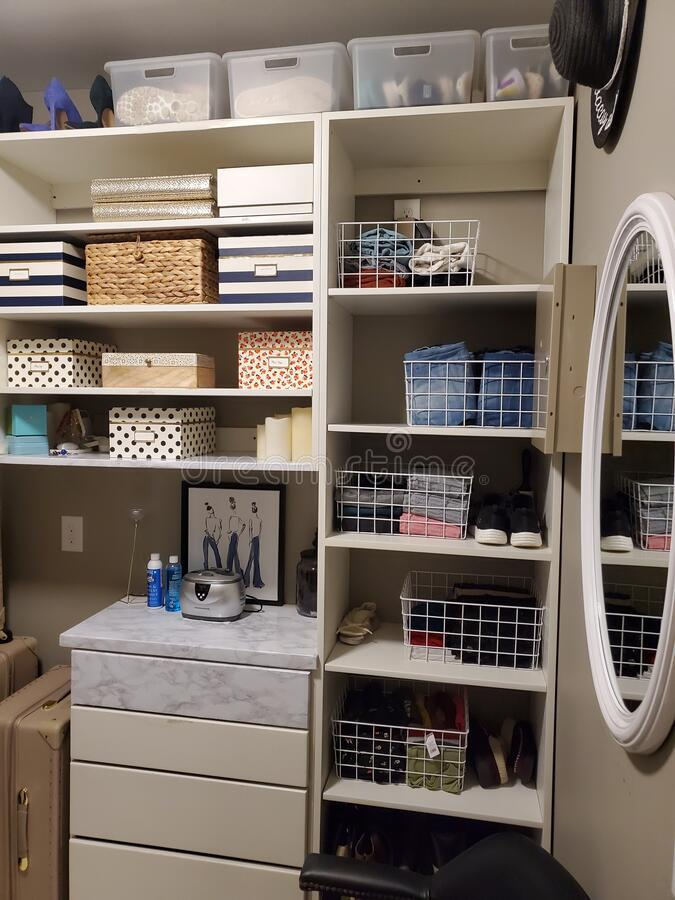 Free Organizing Home Closet Royalty Free Stock Image - 174863136