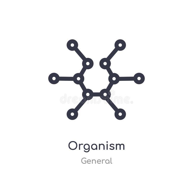 organizmu konturu ikona odosobniona kreskowa wektorowa ilustracja od og?lnej kolekcji editable cienieje uderzenie organizmu ikonę ilustracji