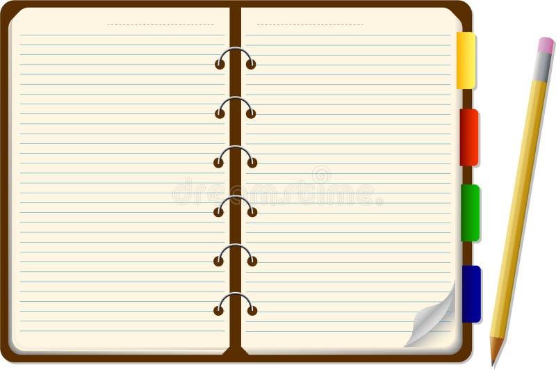 Organizzatore con la matita royalty illustrazione gratis