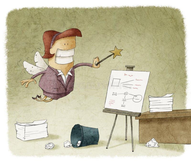 Organizzazione del fatato dell'ufficio illustrazione vettoriale