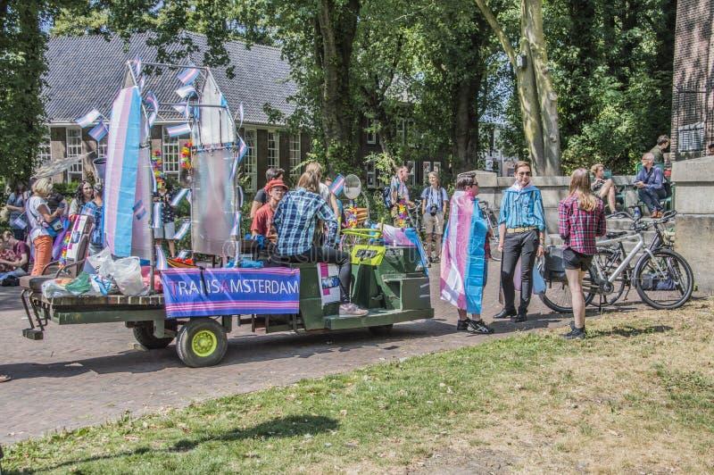 Organizzazione del trasporto Amsterdam all'hotel del generatore a Amsterdam i Paesi Bassi È Pride Week In Amsterdam The gay basso fotografie stock