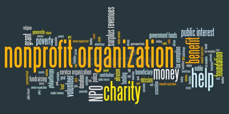 Organizzazione no-profit illustrazione di stock