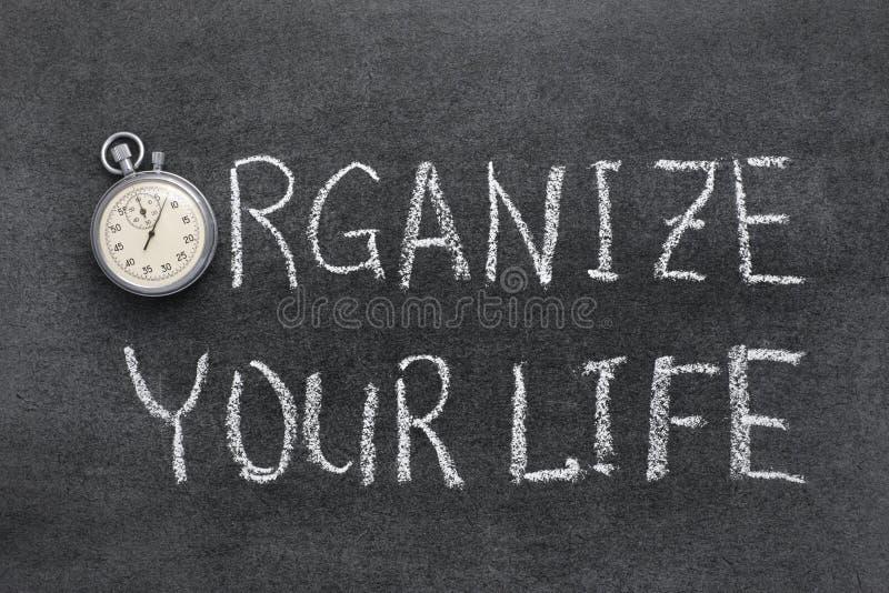 Organizzi la vostra vita immagini stock libere da diritti