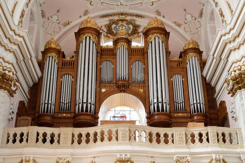 Organo della cattedrale di presupposto, Kalocsa, Ungheria immagine stock libera da diritti
