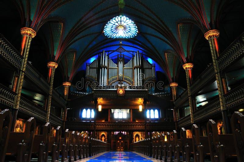 Organo di tubo della basilica del Notre Dame fotografia stock libera da diritti