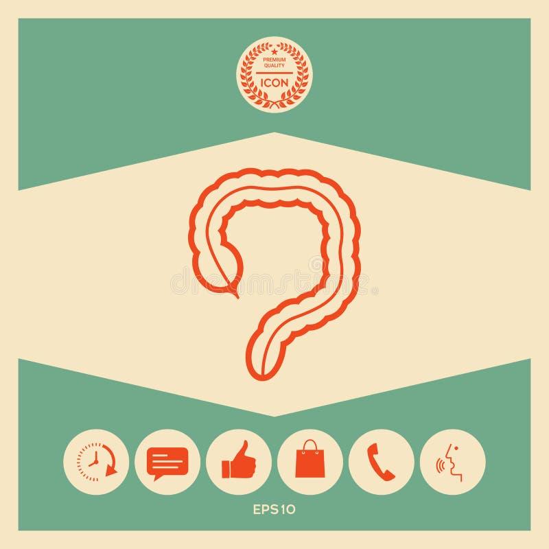 Organo umano - l'icona dell'intestino crasso illustrazione vettoriale