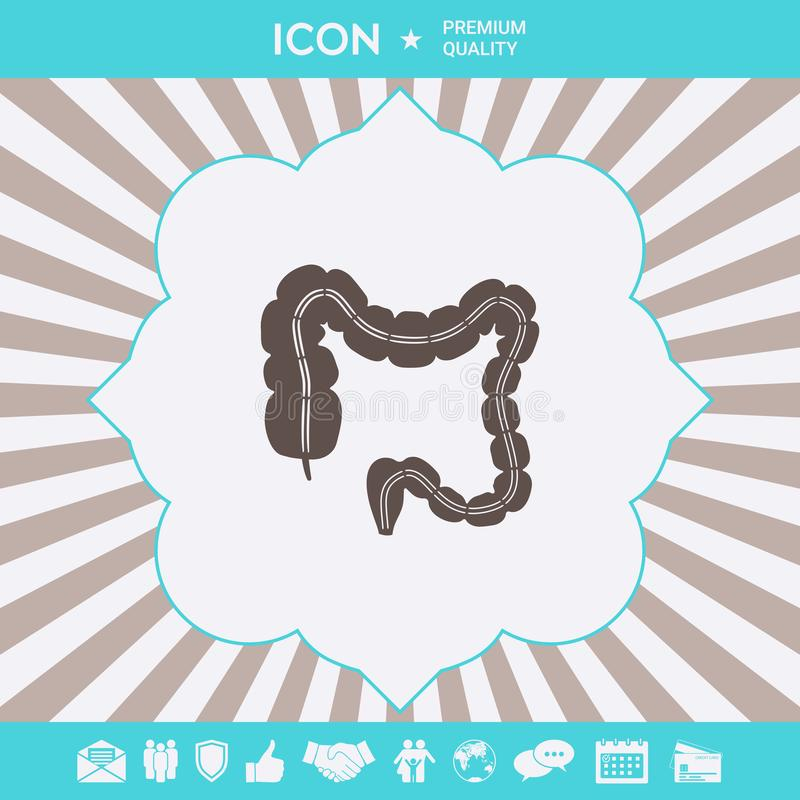Organo umano - l'intestino crasso Elementi grafici per la vostra progettazione royalty illustrazione gratis