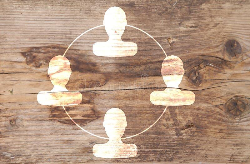 Organogram met hoofden stock afbeeldingen