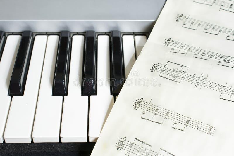 Organowa i szkotowa muzyka obraz stock