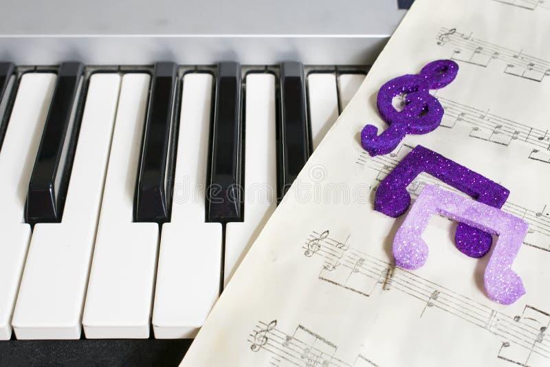 Organowa i szkotowa muzyka zdjęcie stock