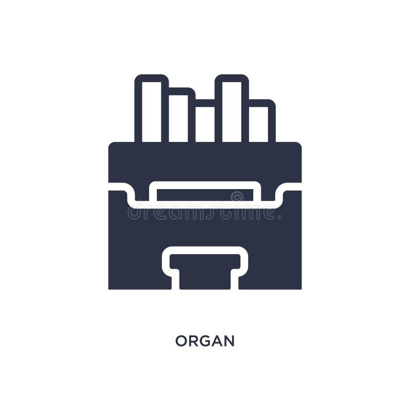 organowa ikona na białym tle Prosta element ilustracja od muzycznego pojęcia ilustracja wektor