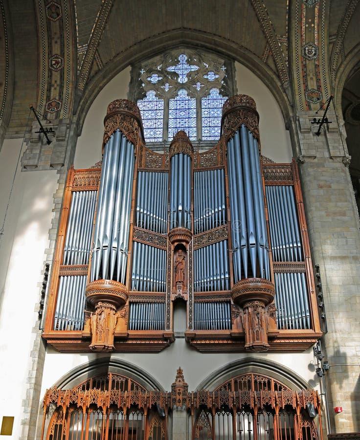 organowa kaplicy drymba Rockefeller obraz royalty free
