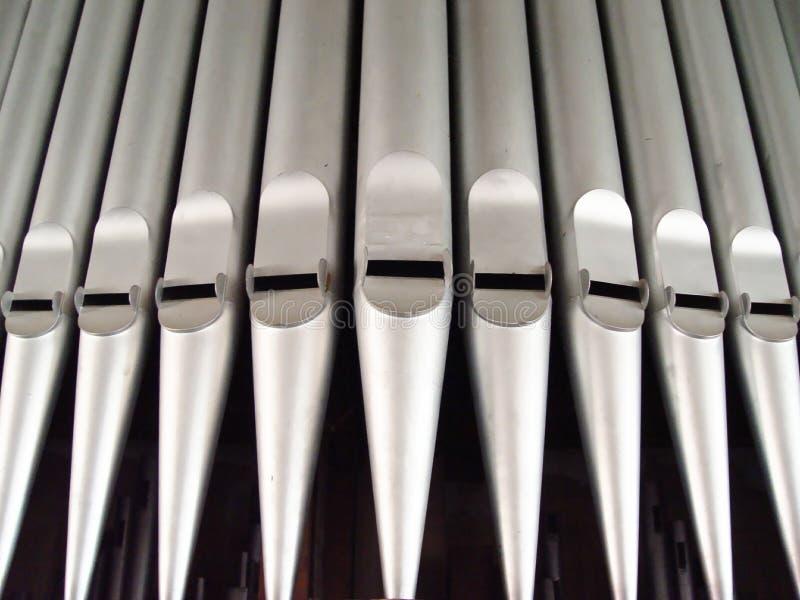 Organrohre stockbilder