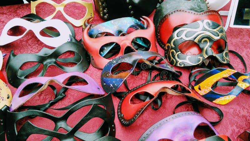 Orgia delle maschere d'annata fotografie stock libere da diritti