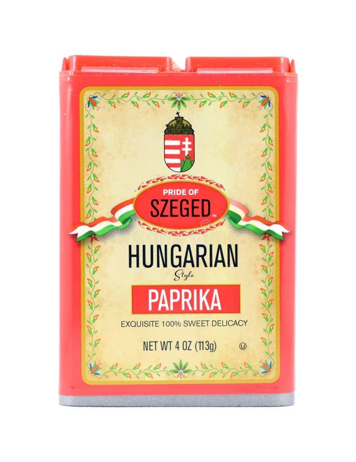 Orgoglio della paprica dolce ungherese di Seghedino fotografia stock