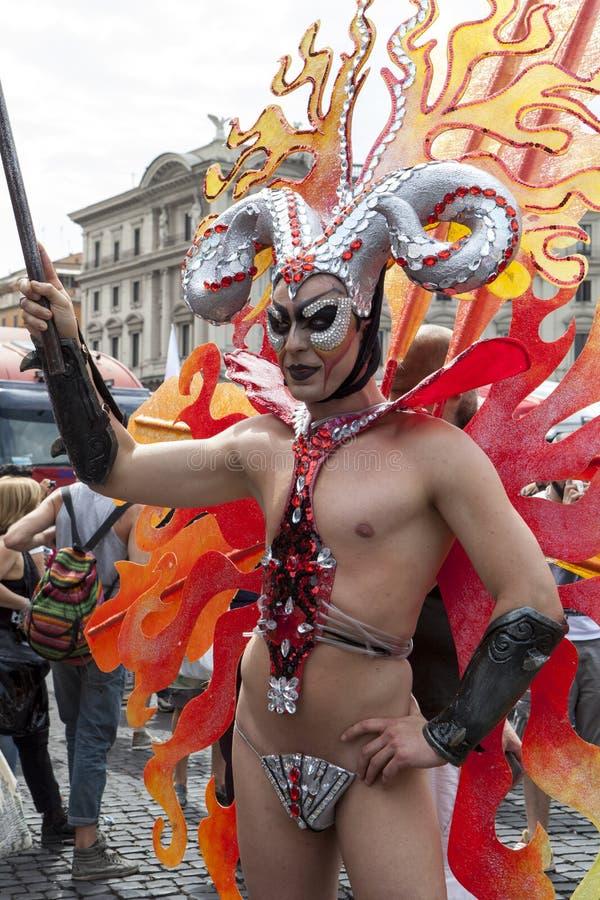 Download Orgoglio 2015 Di Roma - Gay Pride Italy Immagine Editoriale - Immagine di anniversario, distinzione: 55352230