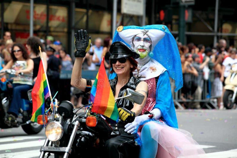 Orgoglio marzo di NYC il 28 giugno 2009 immagine stock libera da diritti