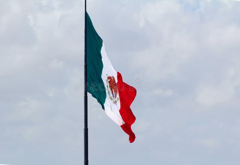 Orgoglio messicano nella bandiera nazionale fotografia stock