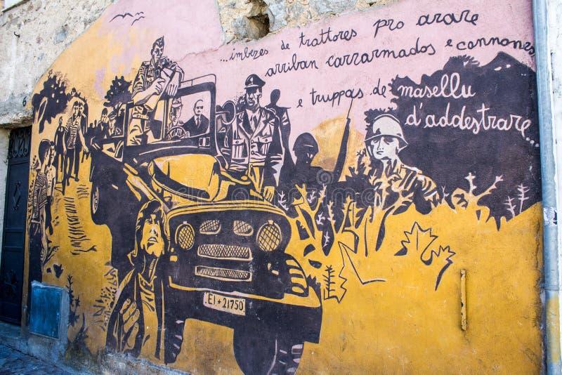 Download ORGOSOLO, ITALIE - 26 Juillet 2015 - Peintures De Mur Typiques Sur Image éditorial - Image du rétro, européen: 56476755