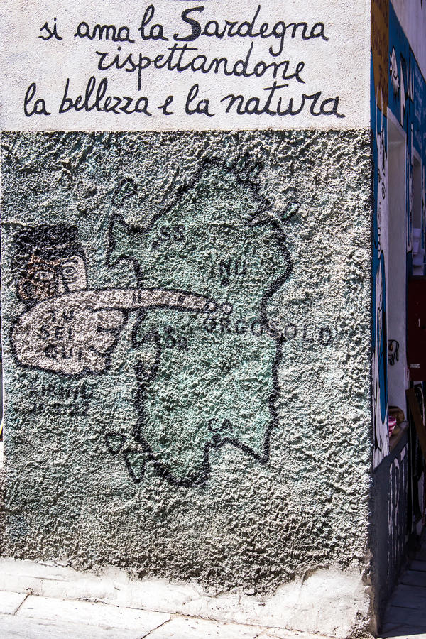 Download ORGOSOLO, ITALIE - 26 Juillet 2015 - Peintures De Mur Typiques Sur Image éditorial - Image du couleur, éléments: 56476925