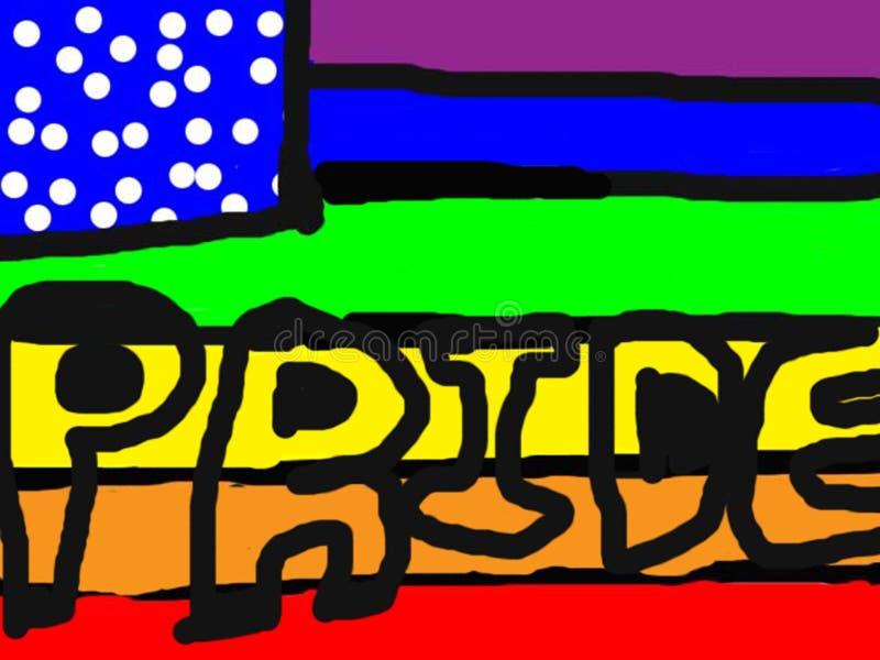 Orgulho ilustração royalty free
