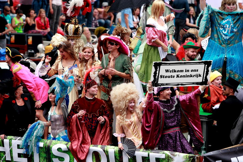 Orgulho alegre 2011 de Amsterdão imagem de stock