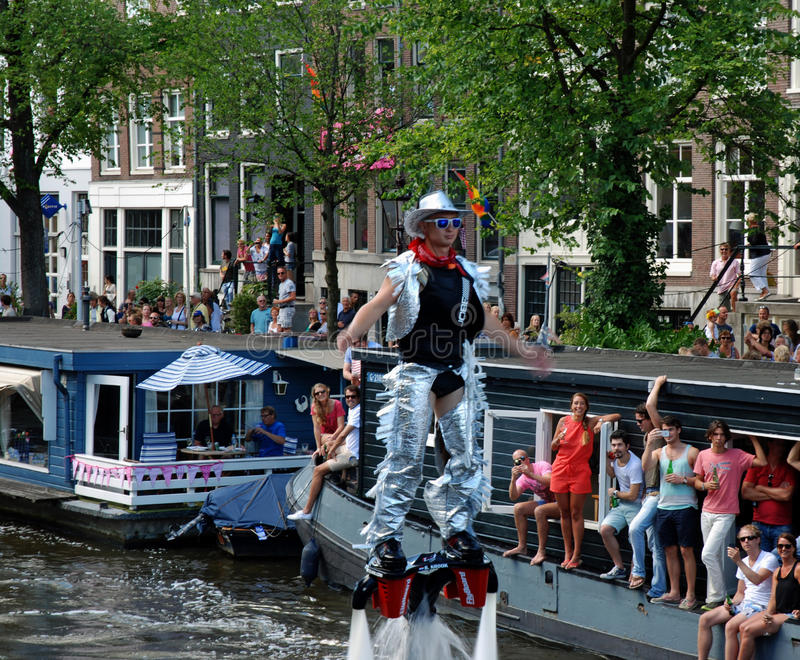 Orgulho alegre 2013 de Amsterdão imagens de stock royalty free