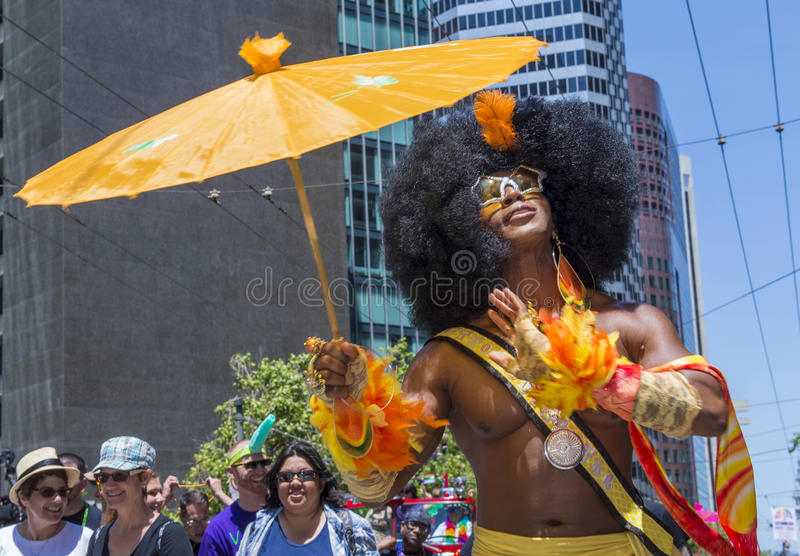 Orgulho Alegre De San Francisco Fotografia Editorial