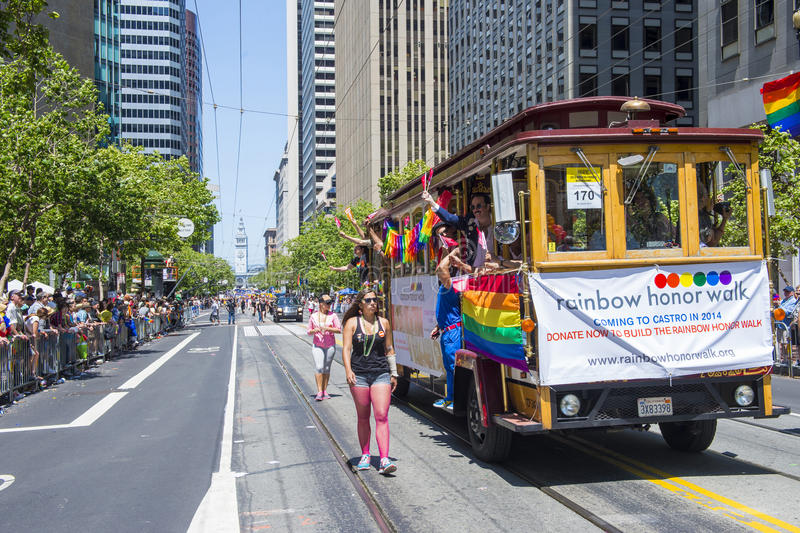Orgulho Alegre De San Francisco Foto de Stock Editorial