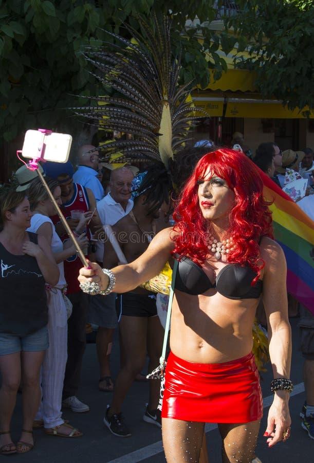 Orgulho alegre em Sitges, Espanha imagens de stock royalty free