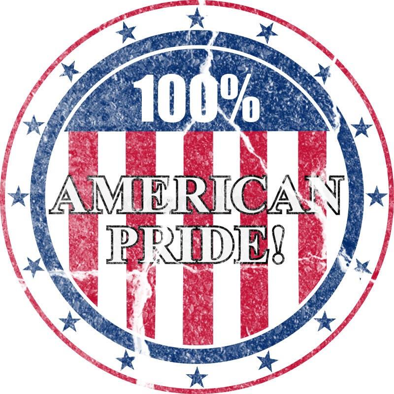 Orgulho americano selo afligido ilustração stock