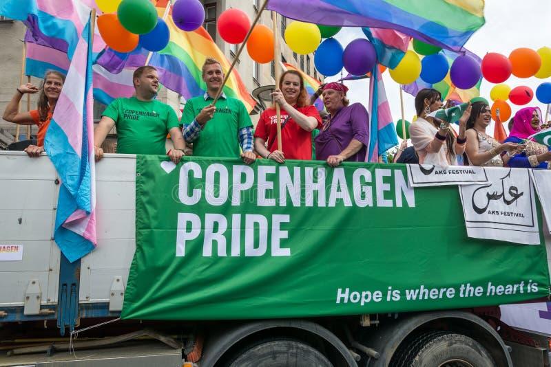 Orgulho de Copenhaga fotos de stock