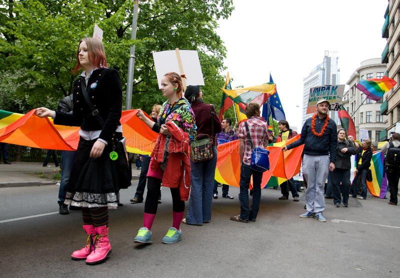 Orgulho do homossexual de Riga fotos de stock