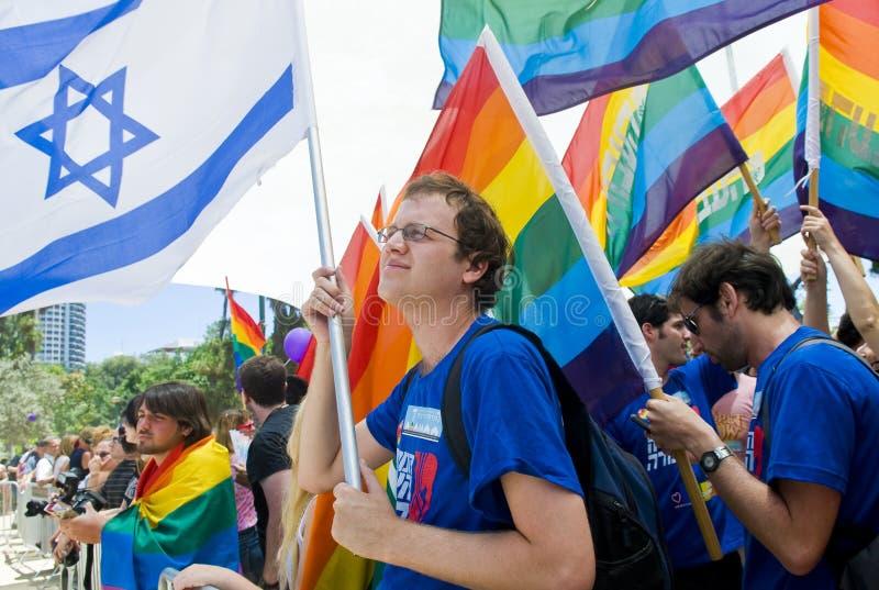 Orgulho do homossexual de Telavive imagem de stock