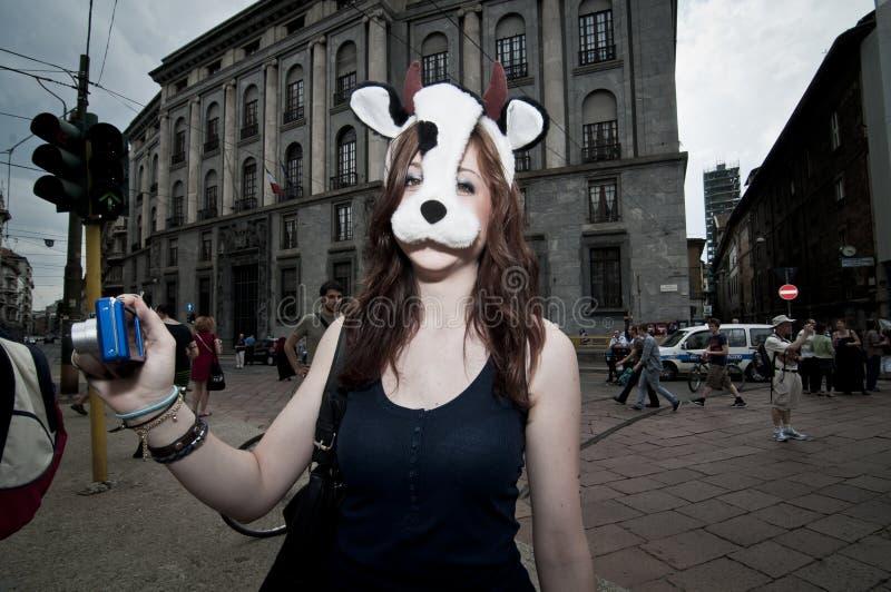 Orgulho do Veggie realizado em Milão junho 18, 2011 imagens de stock