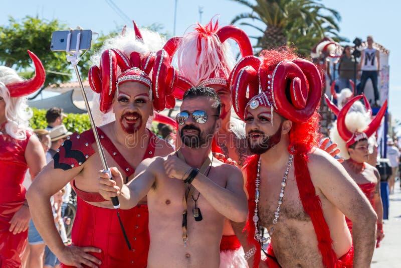 Orgulho dos povos lésbicas, alegres, do bisexual e de transgender imagens de stock