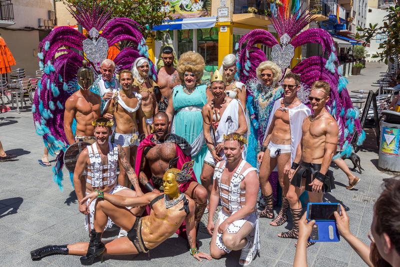 Orgulho dos povos lésbicas, alegres, do bisexual e de transgender foto de stock