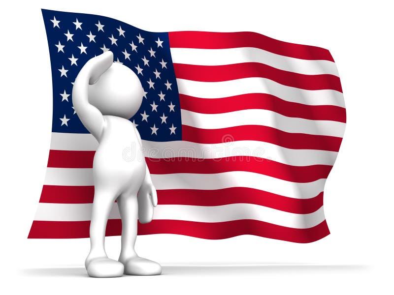 Orgulhoso ser um americano ilustração stock