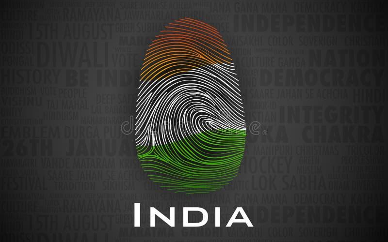 Orgulhoso ser um indiano ilustração do vetor