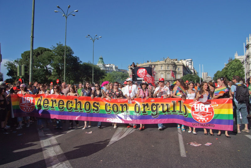 Orgullo alegre Madrid el julio de 2008 imagen de archivo libre de regalías