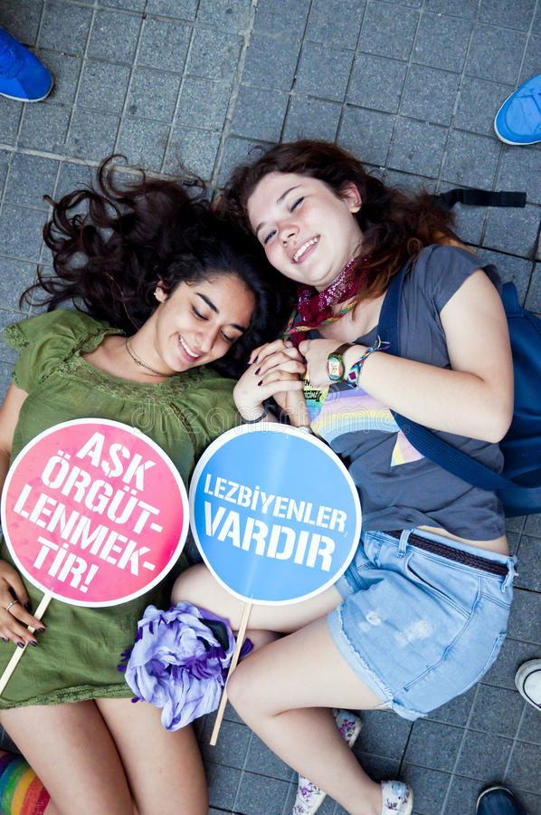 Orgullo 2013 de Estambul LGBT fotografía de archivo libre de regalías