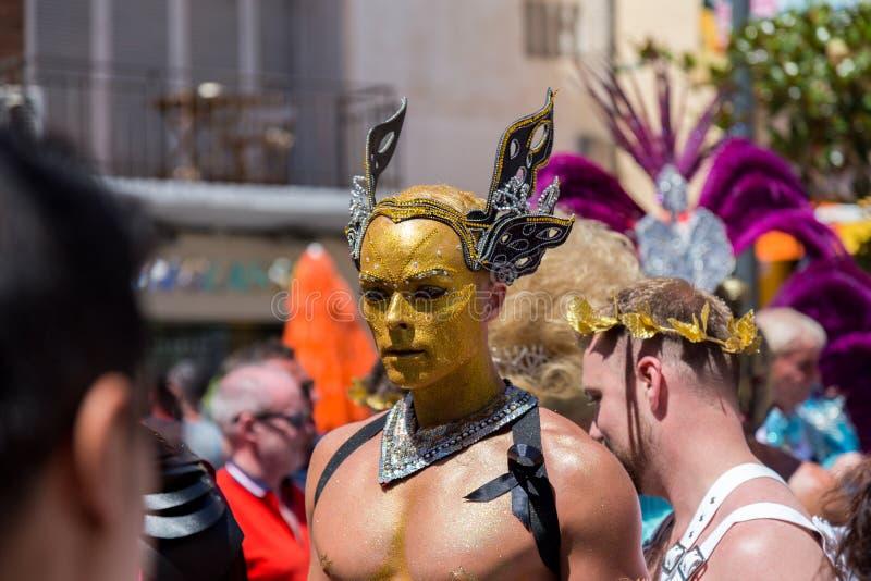 Orgullo de la lesbiana, del gay, del bisexual y de los transexuales imagen de archivo